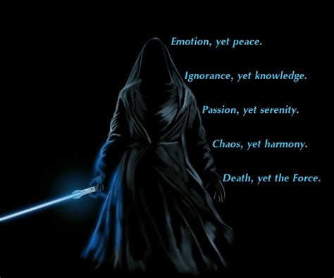 Another variant of the Gray Jedi code   The Force