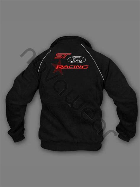 Ford ST Fleece Jacket Black-Ford Clothing, Ford ST Merchandise