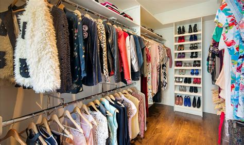 A walk-in closet fit for Carrie Bradshaw