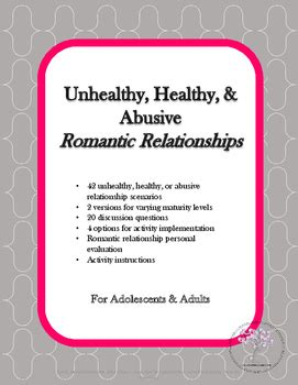Healthy, Unhealthy, & Abusive Romantic Relationships by