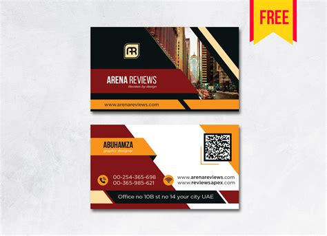 Building Business Card Design PSD - Free Download