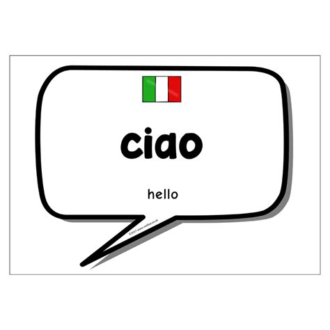 Italian Words and Phrases   Foreign Languages   KS1, KS2