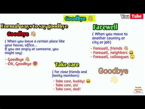 Different ways to say Goodbye in English   slang words to