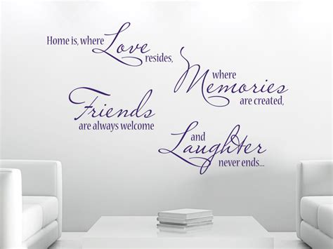Wandtattoo Home is where love resides, where memories are