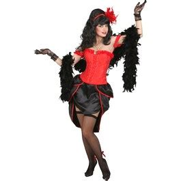 Saloon Girl Westernkleid Sexy Burlesque Kostüm Can Can