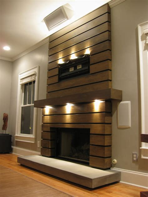 slatted fireplace surround and mantle - by Ben Robinson
