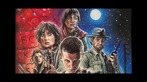STRANGER THINGS Realistic Drawing ⎪ Celly - YouTube