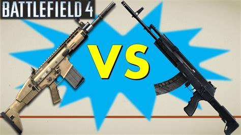 BF4: AK-12 vs SCAR-H | Which Assault Rifle is Best? (Stats