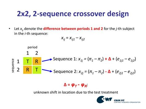 PPT - Inference for the Location Shift in 3x3 Crossover