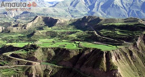 The Colca Valley is one of the deepest valleys in the world