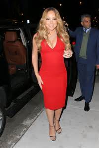 Mariah Carey in Red Dress out in New York City – GotCeleb