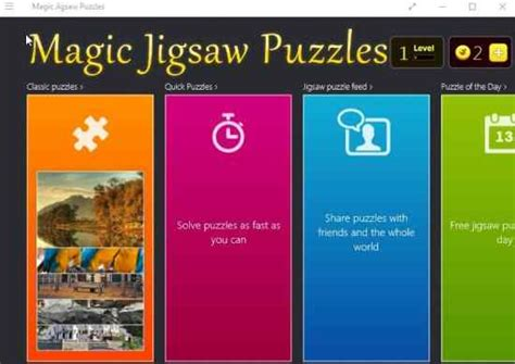 Windows 10 Jigsaw Puzzle App with HD Puzzles