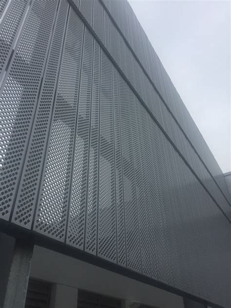 Galvanised Perforated Metal Cladding | Home