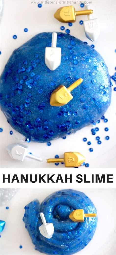 How To Make Hanukkah Slime Recipe with Kids Winter Holiday