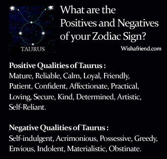 Find Positives and Negatives of your Zodiac Sign- Taurus